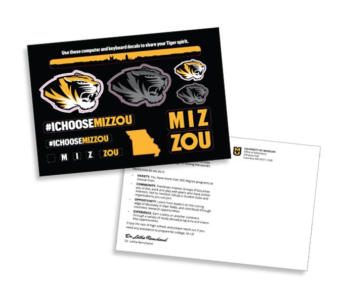Magellan post card stickers.