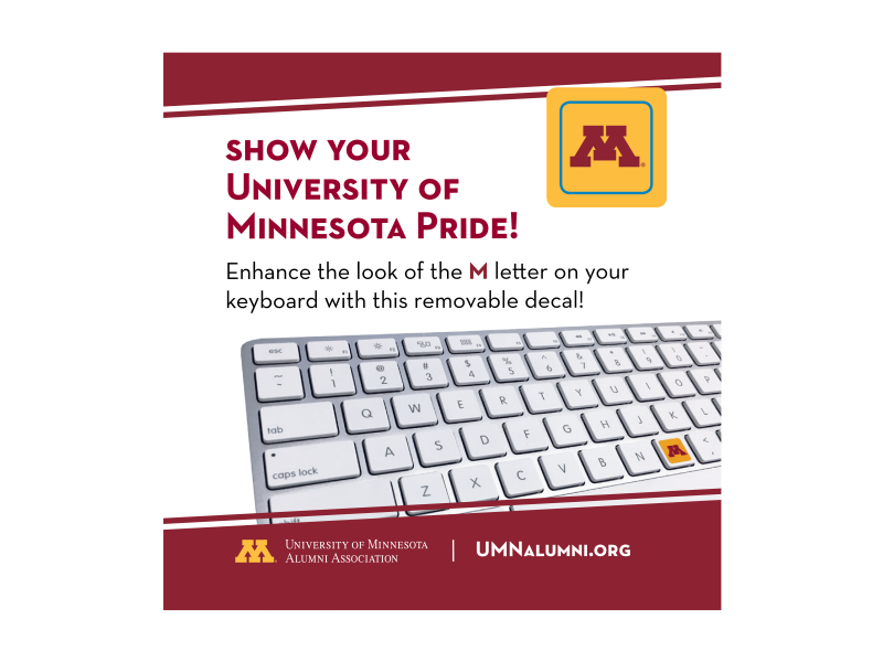 Keyboard sticker - University of Minnesota - Twin Cities