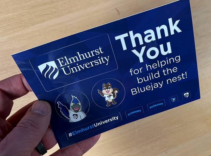 Elmhurst-University sticker postcard